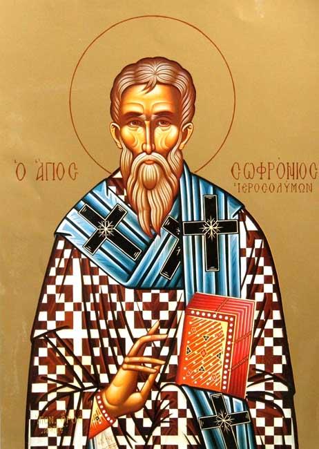 img ST. SOPHRONIUS, the Patriarch of Jerusalem