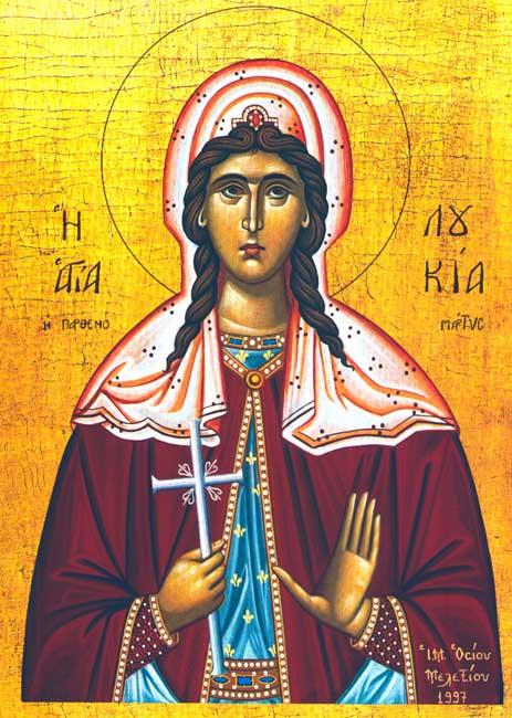 IMG ST. LUCY, Santa Lucia, of Syracuse, Virgin Martyr