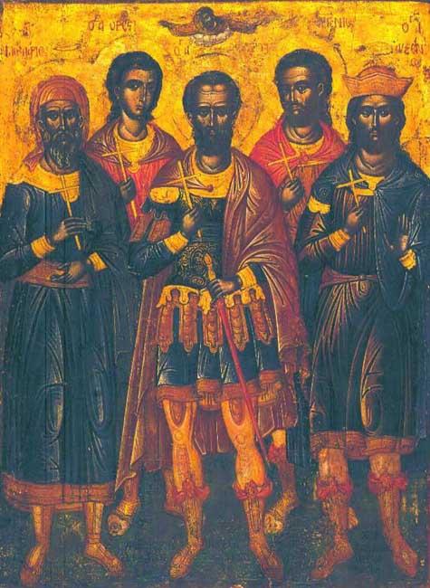 img MARTYRS Eustratius, Auxentius, Eugene, Mardarius, and Orestes