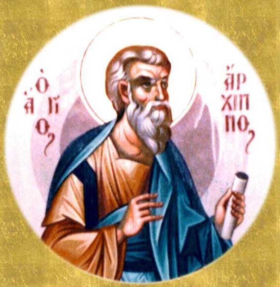 img ST. ARCHIPPUS, Apostle of th Seventy, Martyr