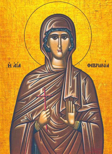 IMG ST. FEBRONIA, Virgin Martyr