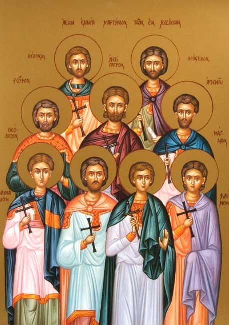 IMG STS. ANTIPATROS. Artemas, Magnus, Philemon, Rufus, Thaumasius, Theodotus, Theognis, Theostichus