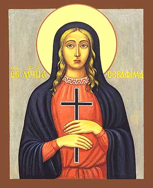 IMG ST. SERAPHIMA, Serapia, Virgin Martyr
