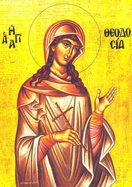 img ST. THEODOSIA of Tyre, Virgin Martyr of Caesarea,