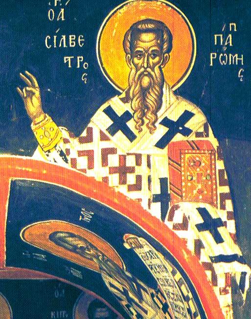 IMG ST. SYLVESTER I, Pope of Rome