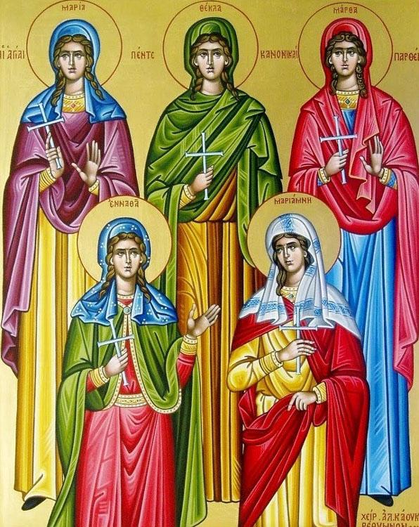 IMG STS.  MARY, Thecla, Martha, Enmatha, Mariamne